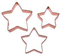Star Cookie Cutters - Copper Plated (Set Of 3) image