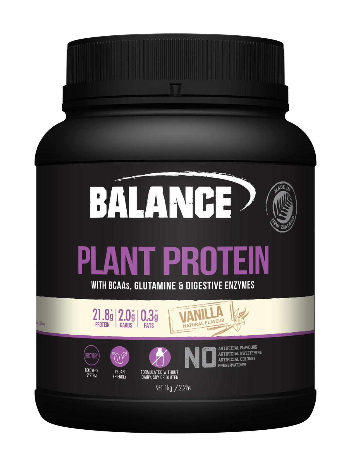 Balance Naturals Plant Protein - Vanilla (1kg) image