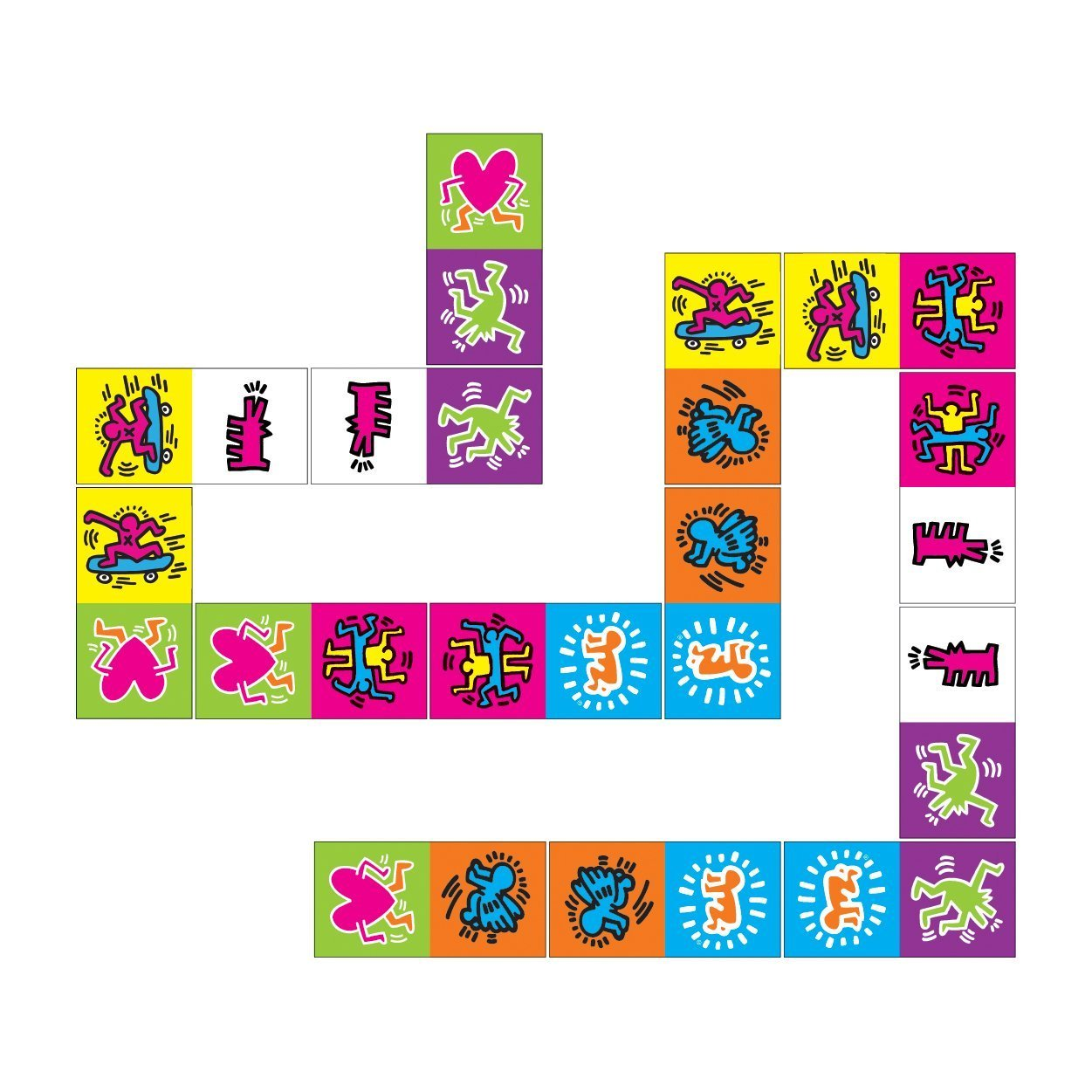 Galison: Wooden Dominoes - Keith Haring image