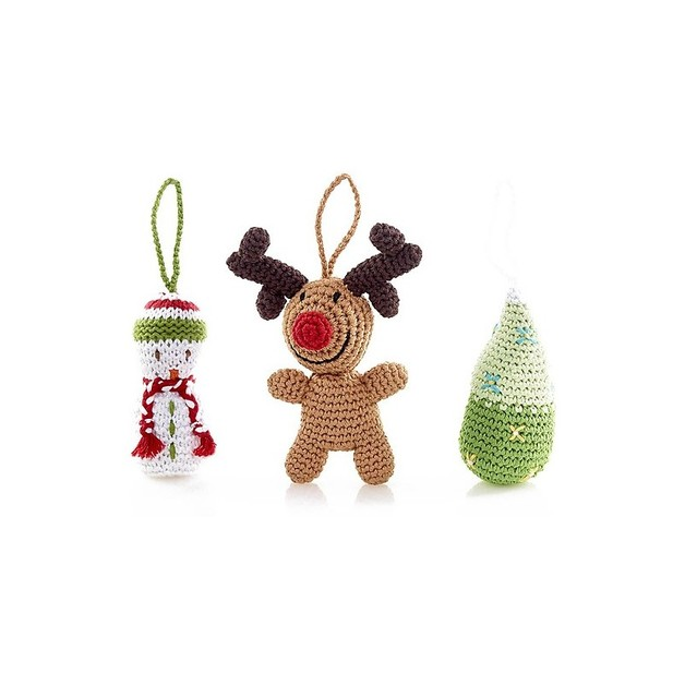 Pebble: Crocheted Christmas Baubles - Various