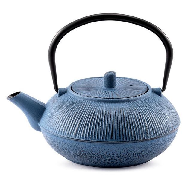 Ovela: Cast Iron Teapot - Teal
