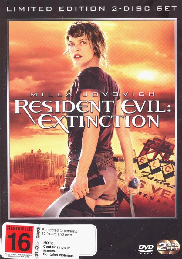 Resident Evil - Extinction (2 Disc Set) on DVD image