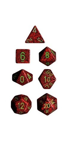 Chessex - Polyhedral Dice Set - Strawberry Speckled