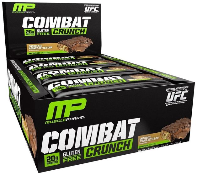 MusclePharm Combat Crunch Bars - Chocolate Peanut Butter Cup (Box of 12)