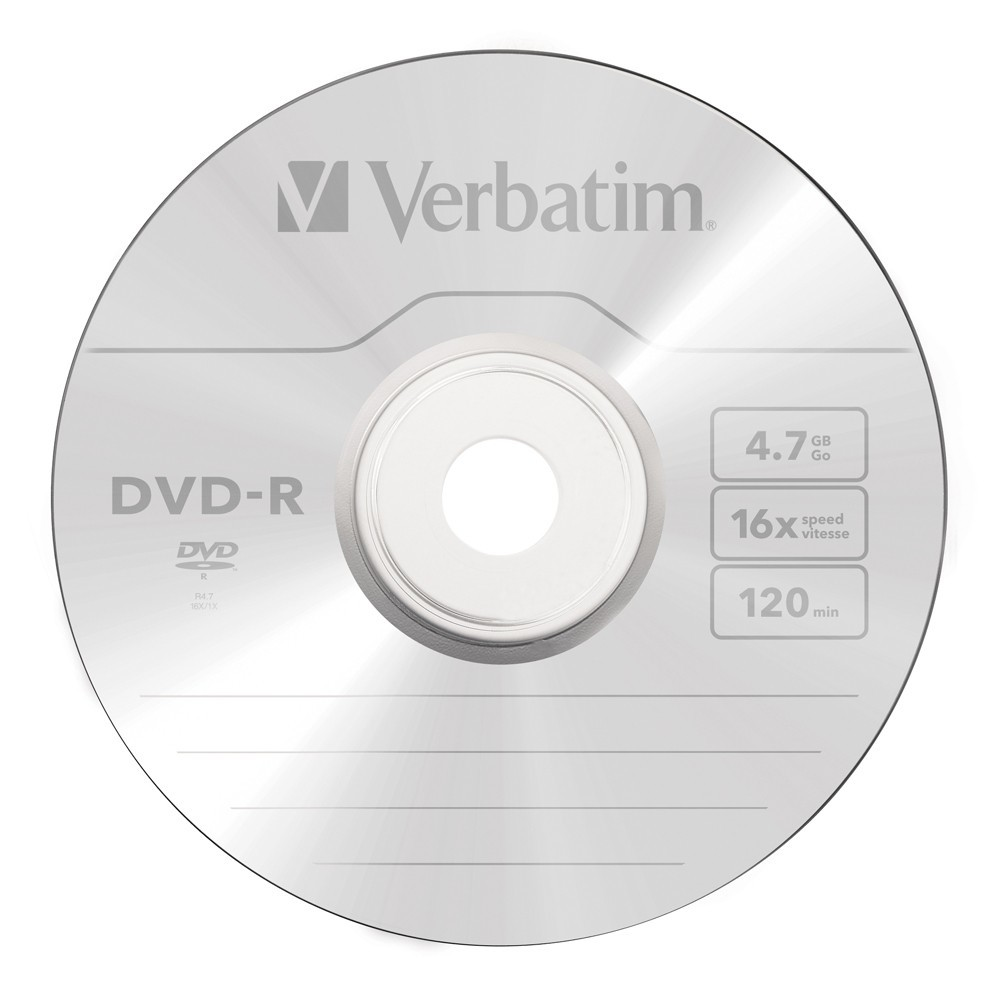 Verbatim DVD-R 4.7GB White InkJet 16x (50 Pack) image
