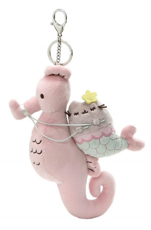 Pusheen Mermaid & Seahorse - Deluxe Plush Keychain