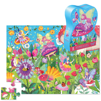 Crocodile Creek: 36-Piece Shaped Box Puzzle - Fairy Garden