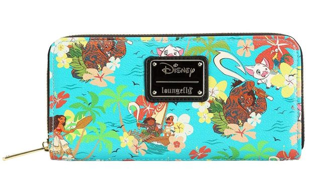 Loungefly: Moana - Floral Zip-Around Wallet