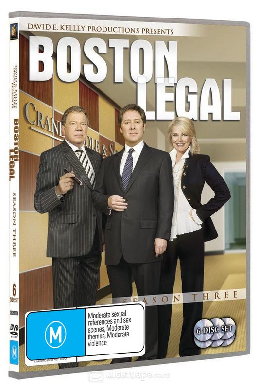 Boston Legal - Season 3 (6 Disc Set) on DVD