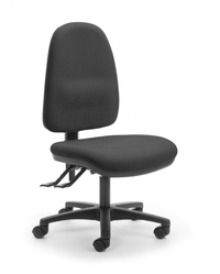 CS Alpha 3 Lever High Back Task Chair - Black