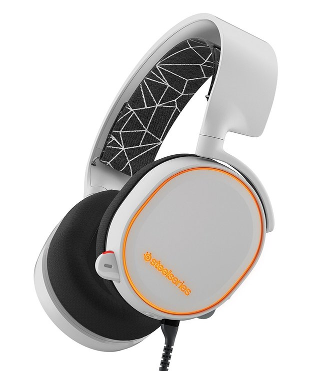 SteelSeries Arctis 5 Wired Gaming Headset (White) for PC