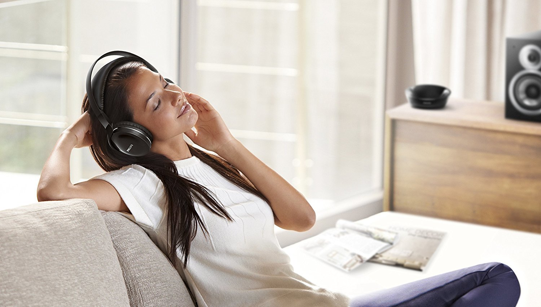 c28dd7f41a8 ... Philips: Wireless Over Ear Home Cinema Headphones - Black image