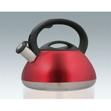 "Stainless Steel 2.8 Litre ""Sphere"" Whistling Kettle - Red"