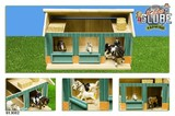 Kids Globe: Horse Stable with 2 Horse Boxes