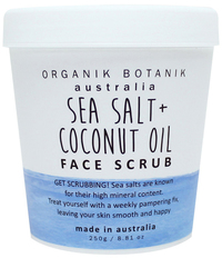 Organik Botanik Splotch Face Scrub - Sea Salt & Coconut (200g)