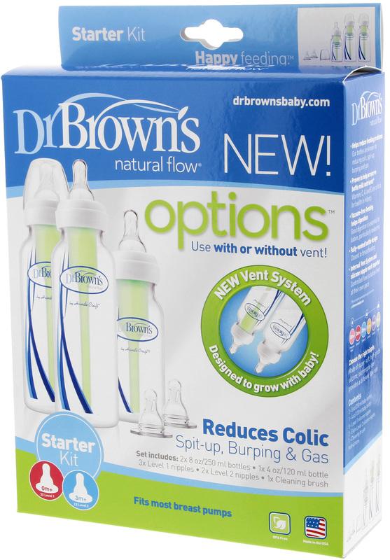 Dr Brown's Bottle Feeding Starter Kit - Narrow Neck