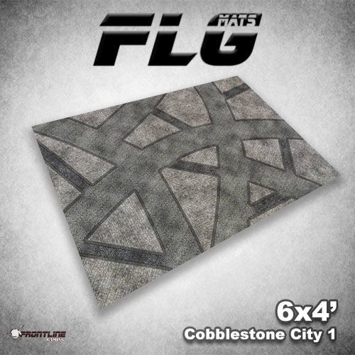 FLG Cobblestone City #1 Neoprene Gaming Mat (6x4)