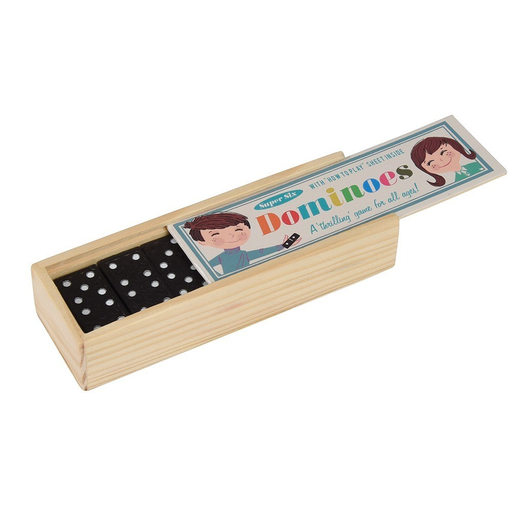 Wooden Box of Dominoes image