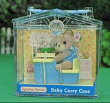 Sylvanian Families: Family Life Baby Carry Case - Cat Baby on Desk