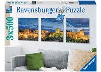 Ravensburger 3x500 Piece Jigsaw Puzzle - Alhambra At Twilight