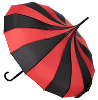 Sourpuss Striped Pagoda Umbrella