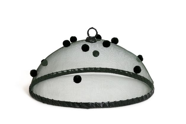 Food Cover Pompom - Black (35cm)