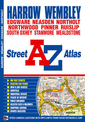 Harrow and Wembley Street Atlas by Geographers A-Z Map Company image