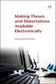 Making Theses and Dissertations Available Electronically by Susan Copeland image