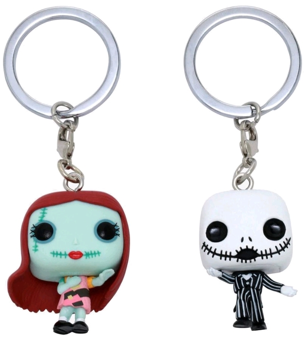 The Nightmare Before Christmas - Jack & Sally Keychain (2-Pack)