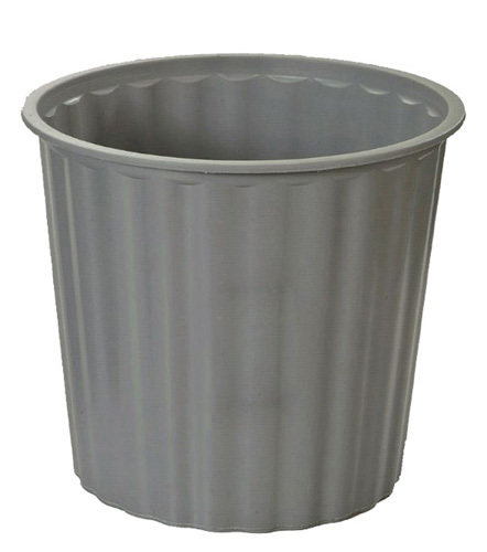 Office Supply Co: Rubbish Bin Round Fluted - Grey (20L)