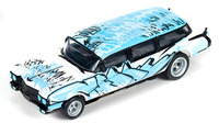 Auto World 4Gear 1959 Cadillac Ambulance (Blue) 1/64 Slot Car
