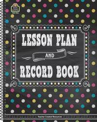 Chalkboard Brights Lesson Plan and Record Book by Teacher Created Resources image