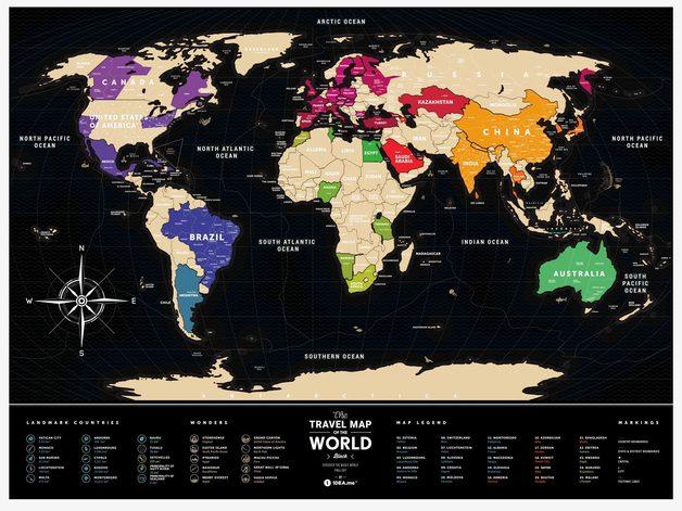 Scratch-off maps Travel Map Black World