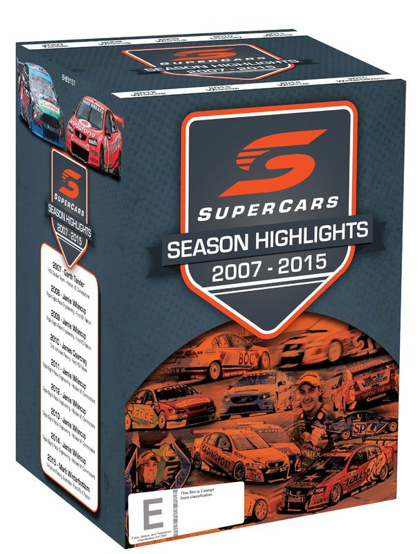 Supercars Championship Series Highlights 2007-2016 on DVD