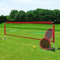Garden Tennis Set with Plastic Pole & Net + 2 Jumbo Racket + 1 Ball