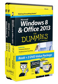 Windows 8 & Office 2013 for Dummies, Portable Edition Book+2dvd Bundle by Andy Rathbone