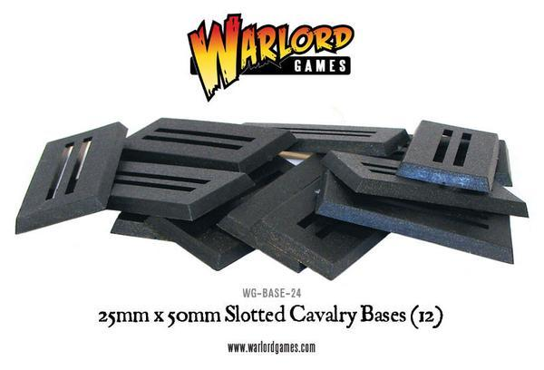 Warlord Games: Cavalry Slotted Bases (25mm x 50mm)