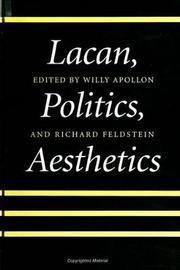 Lacan, Politics, Aesthetics image