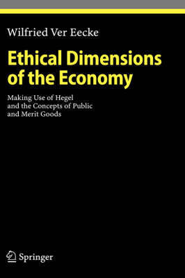 Ethical Dimensions of the Economy by Wilfried Ver Eecke image
