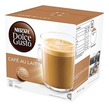 Nescafe: Dolce Gusto Cafe Au Lait (16 Capsules)
