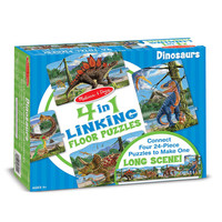 Melissa & Doug: Linking Floor Puzzle - Dinosaurs