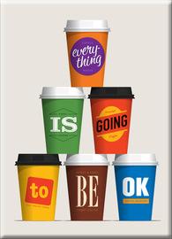 Caffeination Affirmation Fridge Magnet - Glenn Jones