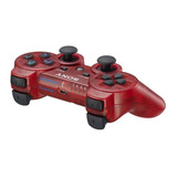 Official Sony Dual Shock 3 Sixaxis Controller - Transparent Red for PS3