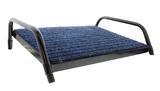 Footrest Blue Carpet with Black Frame - Large