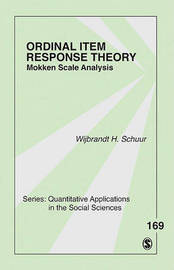 Ordinal Item Response Theory by Wijbrandt H. van Schuur