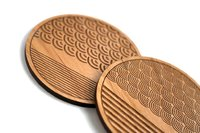 Cardtorial Scallop Stripe Coasters image