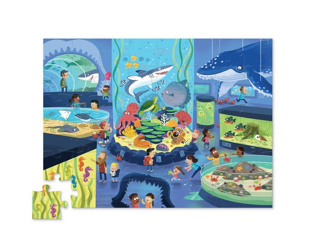 Crocodile Creek: Shaped Box Puzzle - Aquarium (48pc)