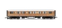 Hornby RailRoad LNER Teak Composite Coach Car 00 Gauge