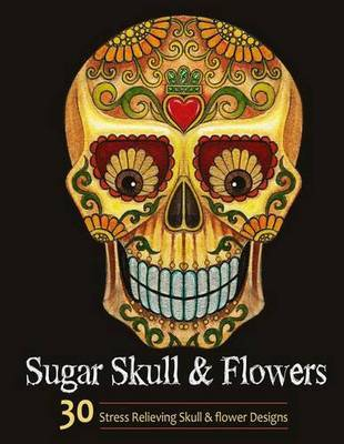 Sugar Skull and Flower by Adult Coloring Books