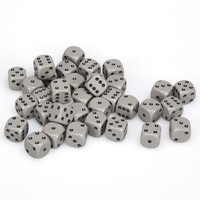 Chessex: D6 Opaque Cube Set (12mm) - Grey/Black image